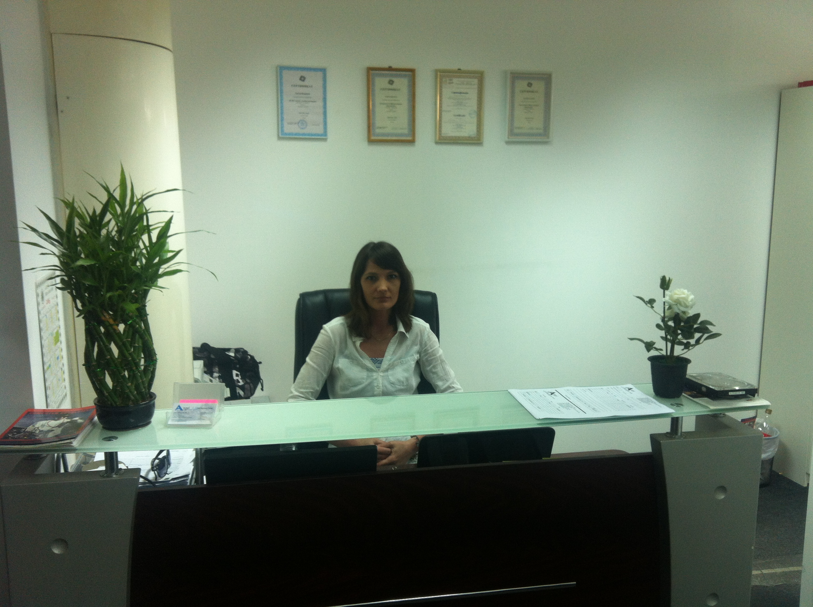 Oksana in office
