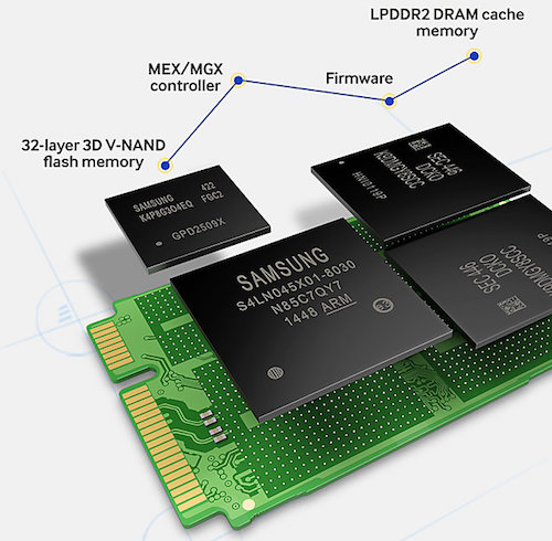 SSD data recovery memory chips